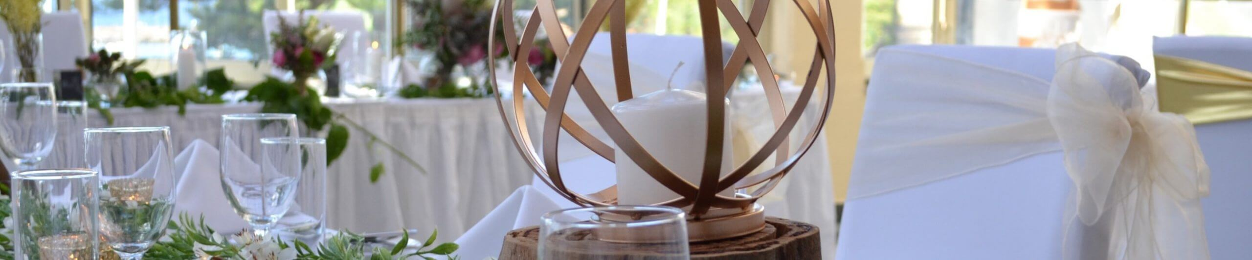 tables with focal point candle