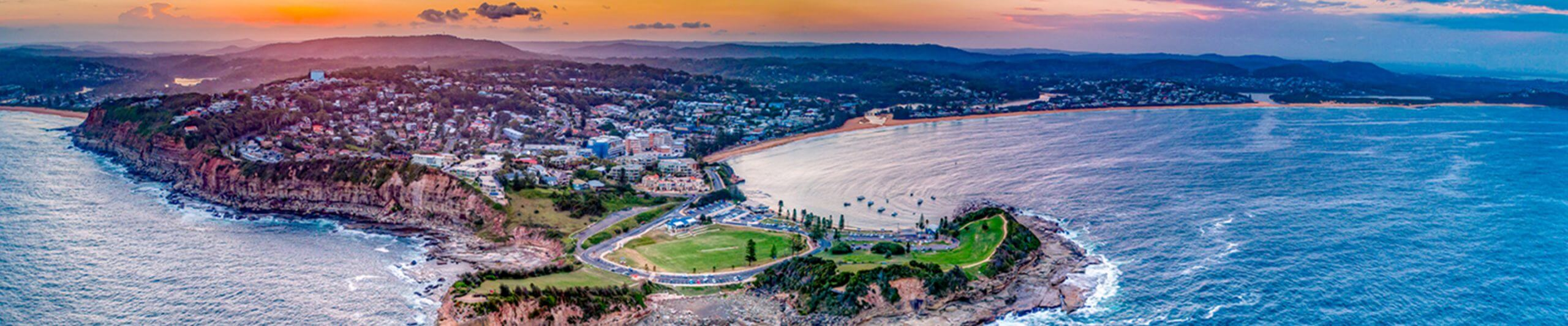 Aerial shot of terrigal