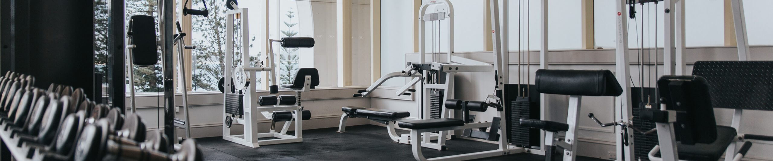 panorama of hotel gym